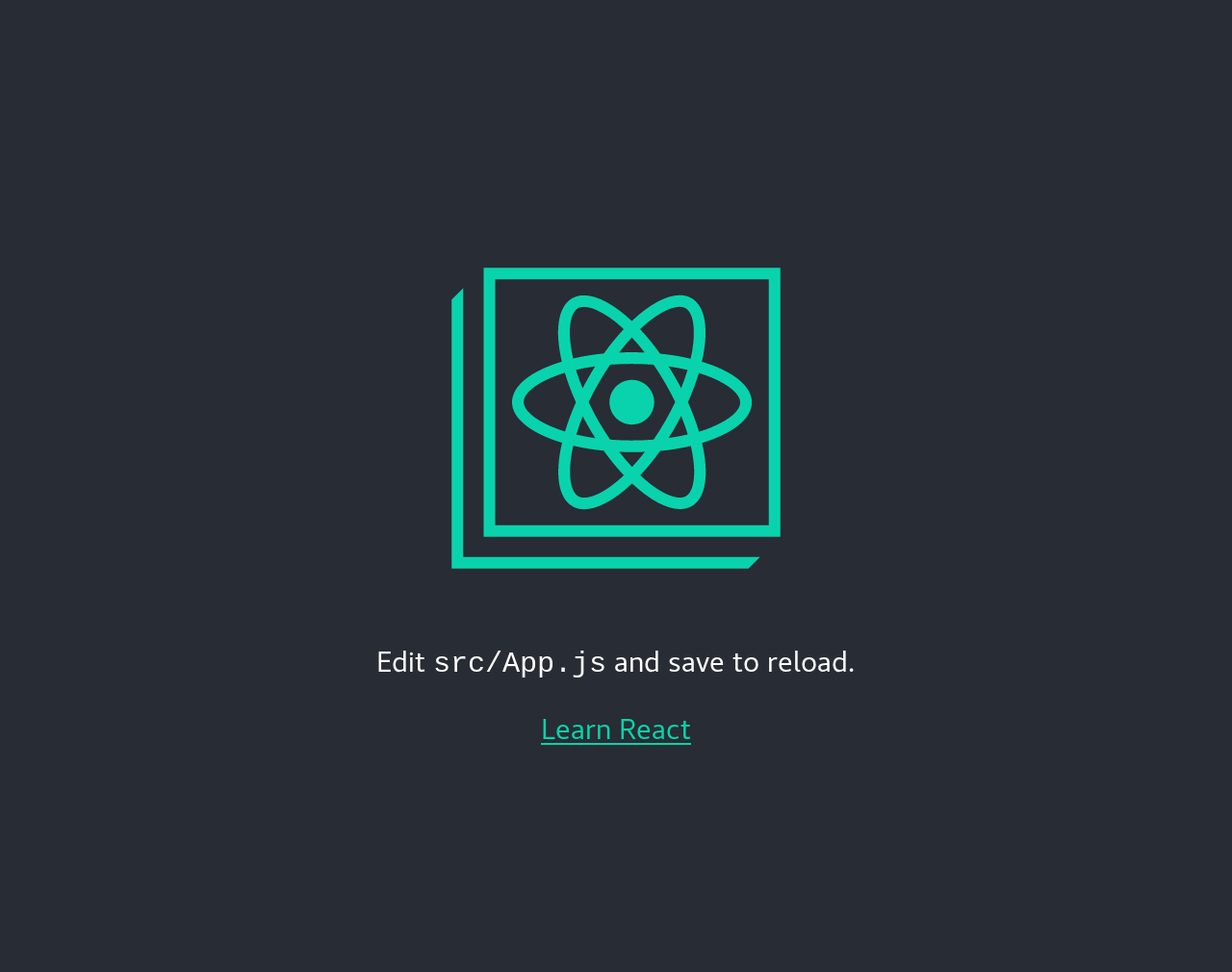 Create React App's starting page